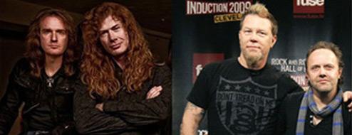 Mustaine quiere formar un grupo con James y Lars de Metallica