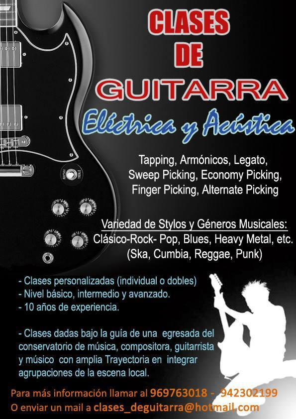 Clases de Guitarra en San Borja