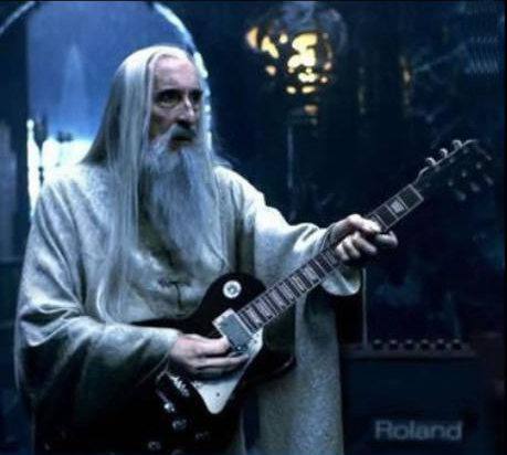 Saruman loves to rock